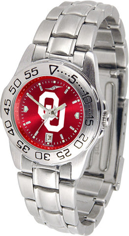 Oklahoma Sooners Ladies Sport Steel Watch With AnoChrome Dial