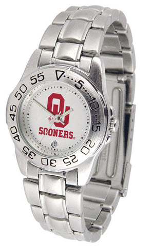 Oklahoma Sooners Ladies Sport Steel Watch