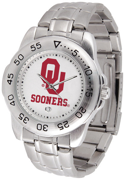 Oklahoma Sooners Men Sport Steel Watch