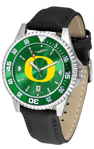 Oregon Ducks Men Competitor Watch With AnoChome Dial, Color Bezel