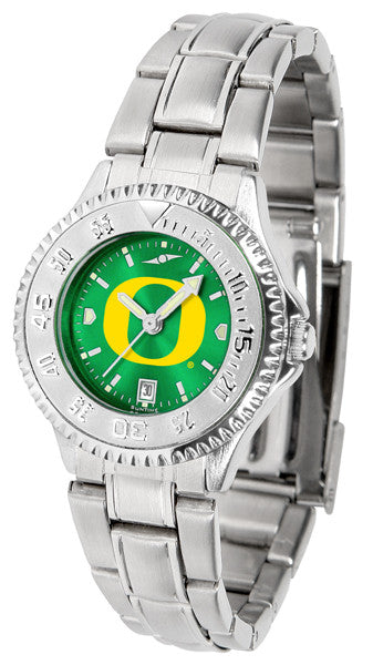 Oregon Ducks Ladies Competitor Steel Watch With AnoChome Dial