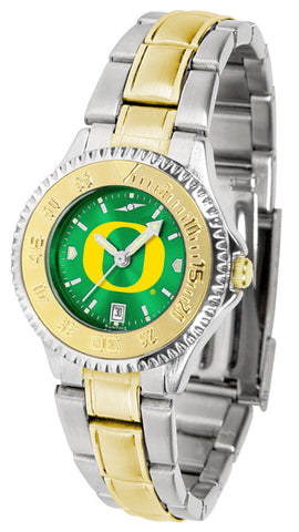 Oregon Ducks Ladies Competitor Two-Tone Watch With AnoChrome Dial