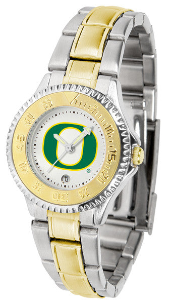 Oregon Ducks Ladies Competitor Two-Tone Watch