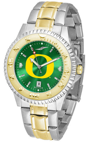 Oregon Ducks Mens Competitor Two-Tone Watch With AnoChrome Dial