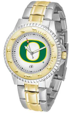 Oregon Ducks Mens Competitor Two-Tone Watch