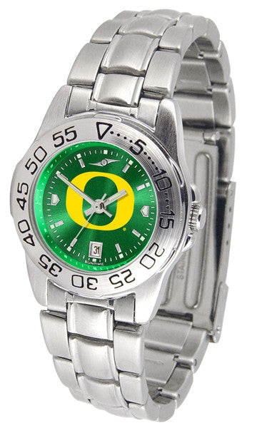 Oregon Ducks Ladies Sport Steel Watch With AnoChrome Dial