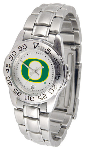 Oregon Ducks Ladies Sport Steel Watch