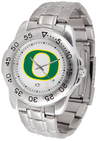 Oregon Ducks Men Sport Steel Watch