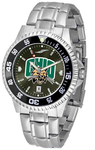 Mens Ohio University Bobcats - Competitor Steel AnoChrome Watch - Color Bezel
