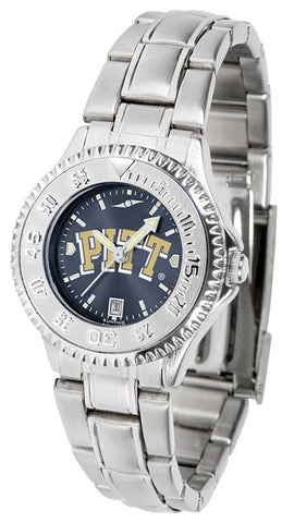 Pittsburgh Panthers Ladies Competitor Steel Watch With AnoChome Dial