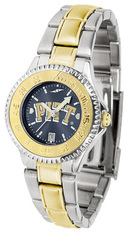 Pittsburgh Panthers Ladies Competitor Two-Tone Watch With Anochrome Dial