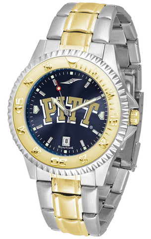 Pittsburgh Panthers Mens Competitor Two-Tone Watch With Anochrome Dial