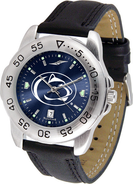 Penn State Nittany Lions Men Sport Watch With Leather Band & AnoChrome Dial