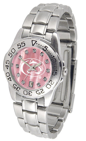 Penn State Nittany Lions Ladies Sport Steel Watch With Mother Of Pearl Dial
