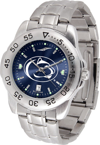 Penn State Nittany Lions Men Sport Steel Watch With AnoChrome Dial