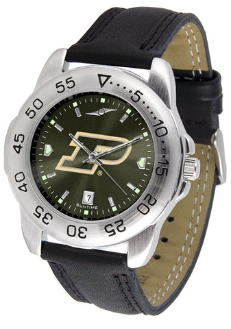 Purdue Boilermakers Men Sport Watch With Leather Band & AnoChrome Dial