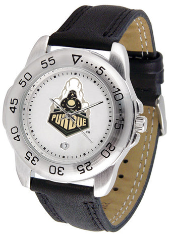 Purdue Boilermakers Men Sport Watch With Leather Band