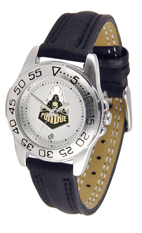 Purdue Boilermakers Ladies Sport Watch With Leather Band