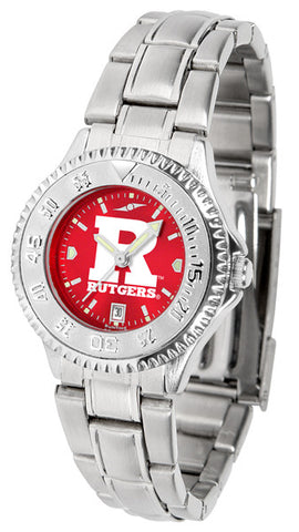 Ladies Rutgers Scarlet Knights - Competitor Steel AnoChrome Watch