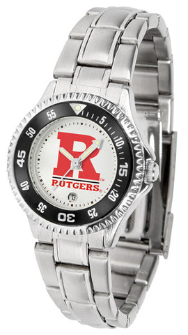 Ladies Rutgers Scarlet Knights - Competitor Steel Watch