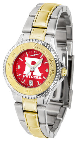 Ladies Rutgers Scarlet Knights - Competitor Two Tone AnoChrome Watch