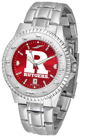Mens Rutgers Scarlet Knights - Competitor Steel AnoChrome Watch