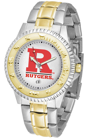Mens Rutgers Scarlet Knights - Competitor Two Tone Watch