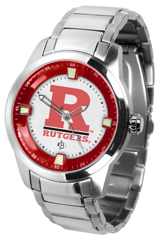 Mens Rutgers Scarlet Knights - Titan Steel Watch