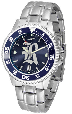 Mens Rice University Owls - Competitor Steel AnoChrome Watch - Color Bezel