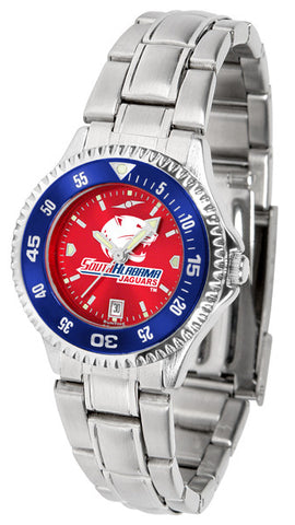 Ladies South Alabama Jaguars - Competitor Steel AnoChrome Watch - Color Bezel