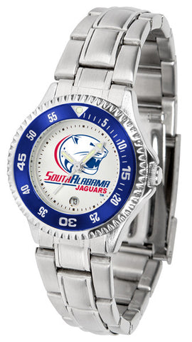 Ladies South Alabama Jaguars - Competitor Steel Watch