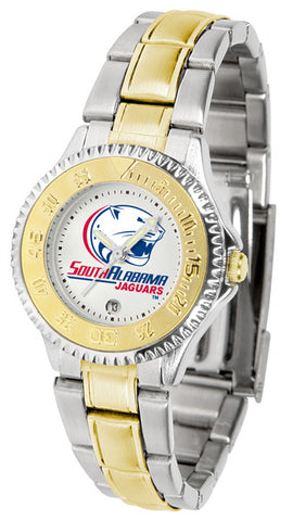 Ladies South Alabama Jaguars - Competitor Two Tone Watch