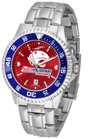 Mens South Alabama Jaguars - Competitor Steel AnoChrome Watch - Color Bezel