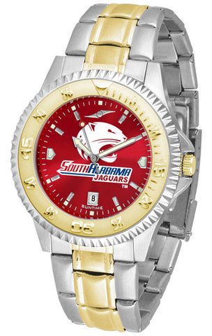 Mens South Alabama Jaguars - Competitor Two Tone AnoChrome Watch
