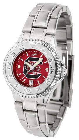 South Carolina Gamecocks Ladies Competitor Steel Watch With AnoChome Dial