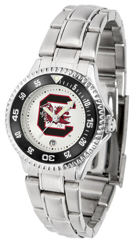South Carolina Gamecocks Competitor Steel Ladies Watch