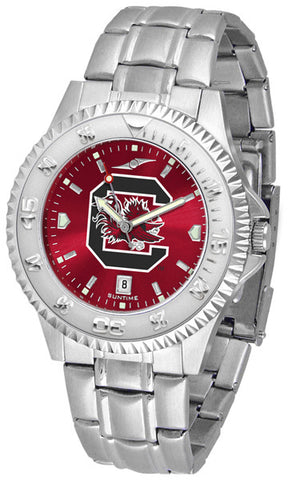 South Carolina Gamecocks Men's Competitor Steel Watch With AnoChome Dial