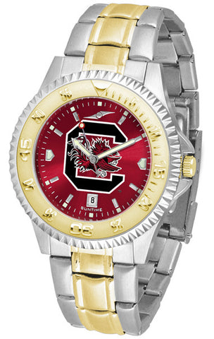 South Carolina Gamecocks Mens Competitor Two-Tone Watch With Anochrome Dial