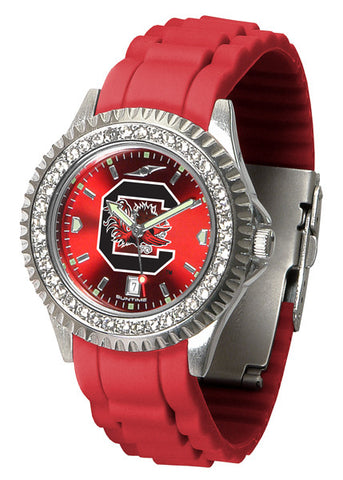 South Carolina Gamecocks Sparkle Watch With Color Band