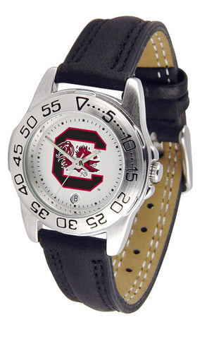 South Carolina Gamecocks Ladies Sport Watch With Leather Band