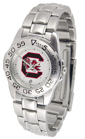 South Carolina Gamecocks Ladies Sport Steel Watch