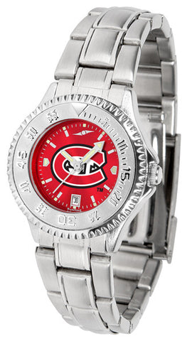 Ladies Saint Cloud State Huskies - Competitor Steel AnoChrome Watch