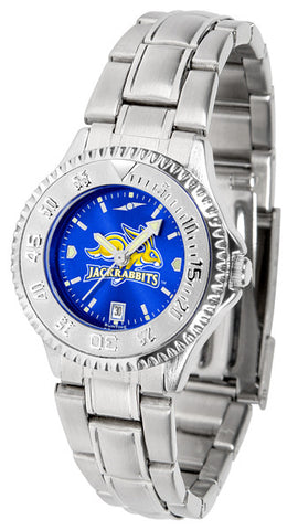 Ladies South Dakota State Jackrabbits - Competitor Steel AnoChrome Watch