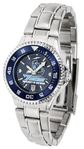 Ladies San Diego Toreros - Competitor Steel AnoChrome Watch - Color Bezel