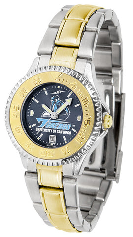 Ladies San Diego Toreros - Competitor Two Tone AnoChrome Watch