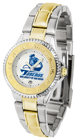 Ladies San Diego Toreros - Competitor Two Tone Watch