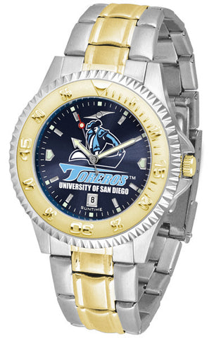 Mens San Diego Toreros - Competitor Two Tone AnoChrome Watch