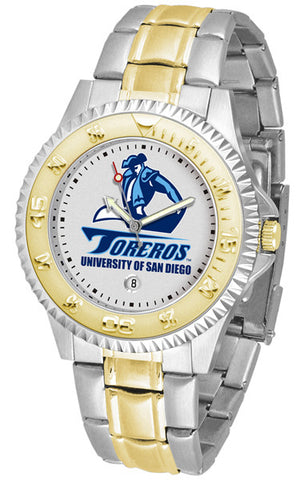 Mens San Diego Toreros - Competitor Two Tone Watch