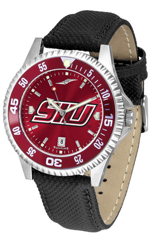 Southern Illinois University Men Competitor Watch With AnoChome Dial, Color Bezel