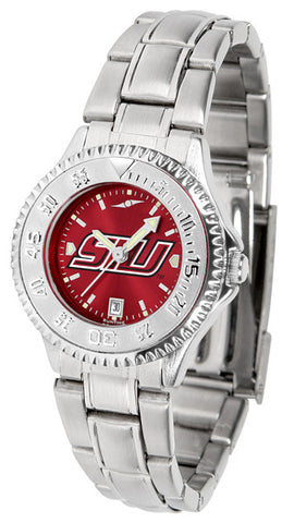 Southern Illinois University Ladies Competitor Steel Watch With AnoChome Dial
